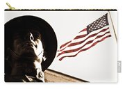 Soldier And Flag Carry-all Pouch