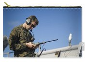 Soldier Conducts A Communications Check Carry-all Pouch