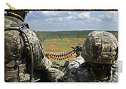 Soldier Feeds Ammunition To His Gunner Carry-all Pouch by Stocktrek Images