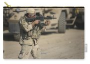 Soldier Fires A M4 Carbine Carry-all Pouch