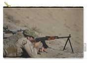 Soldier Fires A Russian Rpk Kalashnikov Carry-all Pouch