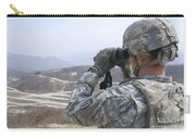 Soldier Observes An Adjust Fire Mission Carry-all Pouch