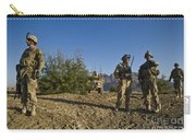 Soldiers Discuss A Strategic Plan Carry-all Pouch