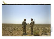 Soldiers Discuss, Drop Zone Carry-all Pouch