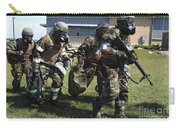 Soldiers Dressed In Chemical Warfare Carry-all Pouch