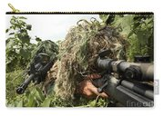 Soldiers Dressed In Ghillie Suits Carry-all Pouch