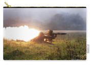 Soldiers Fire A Rocket Propelled Carry-all Pouch