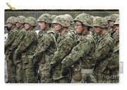 Soldiers From The Japan Ground Self Carry-all Pouch by Stocktrek Images