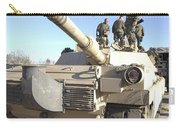 Soldiers Get Their Battletank Ready Carry-all Pouch