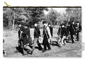 Soldiers March Black And White II Carry-all Pouch