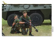 Soldiers Of An Infantry Unit Carry-all Pouch by Luc De Jaeger