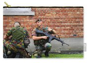 Soldiers Of The Belgian Army Helping Carry-all Pouch