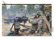 Soldiers Operate A Mk-19 Grenade Carry-all Pouch by Stocktrek Images