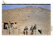 Soldiers Wait For Afghan National Carry-all Pouch