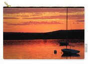 Solitary Sailboat At Sundown Carry-all Pouch