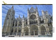 South Facade Of Leon White Gothic Carry-all Pouch