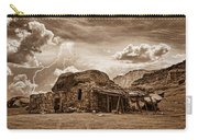 Southwest Indian Rock House And Lightning Striking Carry-all Pouch by James BO  Insogna