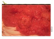 Spaghetti And Meatballs Carry-all Pouch by Michael Merry