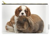 Spaniel Pup With Rabbit Carry-all Pouch