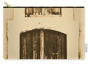 Spanish Fort Door Castillo San Felipe Del Morro San Juan Puerto Rico Prints Rustic Carry-all Pouch by Shawn O'Brien