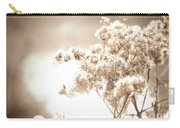 Sparkly Weeds In Sepia Carry-all Pouch