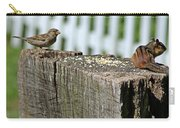 Sparrow And Chipmunk Coexist Carry-all Pouch