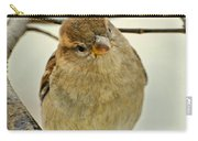 Sparrow On A Twig Carry-all Pouch