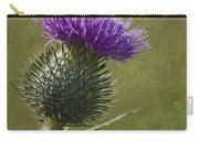 Spear Thistle With Texture Carry-all Pouch
