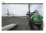 Specialist Records Video Of Flight Deck Carry-all Pouch