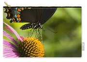 Spicebush Swallowtail Butterfly And Coneflower Carry-all Pouch