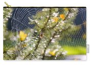 Spider On Web Carry-all Pouch