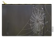 Spider Web Covered In Dew Drops Carry-all Pouch