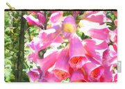 Spikes Of Pink Foxgloves Carry-all Pouch