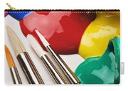 Spilt Paint And Brushes  Carry-all Pouch
