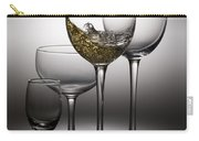 Splashing Wine In Wine Glasses Carry-all Pouch