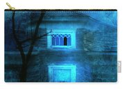 Spooky House With Moon Carry-all Pouch by Jill Battaglia