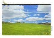 Spring Farm Landscape With Blue Sky In Maine Carry-all Pouch