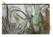 Spring Flowers In Ice Storm Carry-all Pouch