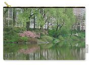 Spring Reflections Of Manhattan In Central Park Carry-all Pouch