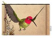 Springtime - Hummingbird Carry-all Pouch