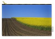 Sprouting Field Of Sunflowers And Field Of Rape. Auvergne. France. Europe Carry-all Pouch