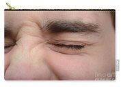 Squinting Eyes Carry-all Pouch