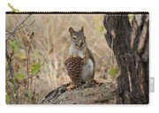 Squirrel And Cone Carry-all Pouch