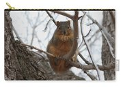 Squirrel Eating In The Frost Carry-all Pouch