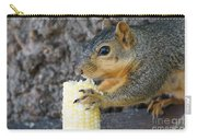 Squirrel Holding Corn Carry-all Pouch