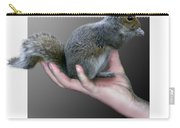 Squirrel In Hand Carry-all Pouch