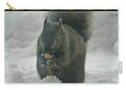 Squirrel In The Snow Carry-all Pouch