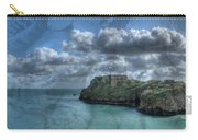 St Catherines Rock Tenby With A Shell Texture Carry-all Pouch
