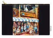 St. Denis And Prince Arthur Montreal Cafe Scene Carry-all Pouch