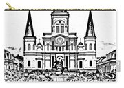 St Louis Cathedral On Jackson Square In The French Quarter New Orleans Photocopy Digital Art Carry-all Pouch